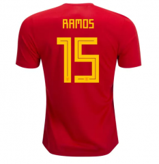 2018 Spain #15 RAMOS Home Red Soccer Jersey Shirts