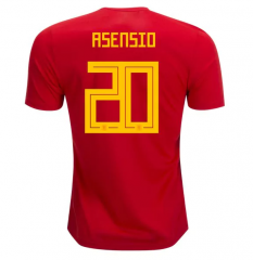 2018 Spain #20 ASENSIO Home Red Soccer Jersey Shirts