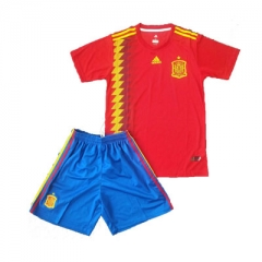 2018 Youth World Cup Spain Home Red Soccer Uniform