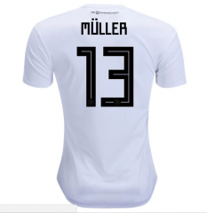 2018 Germany #13 MULLER Home White Soccer Jersey Shirts