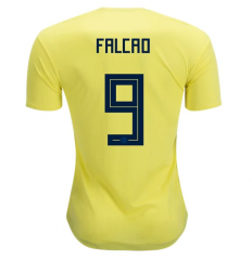 2018 Colombia #9 FALCAO Home Yellow Soccer Jersey Shirts