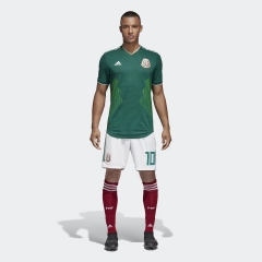 2018 World Cup Mexico Home Green Soccer Uniform