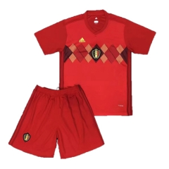 2018 Youth Belgium Home Red Soccer Kits