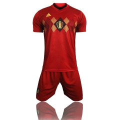 2018 World Cup Belgium Home Red Soccer Uniform