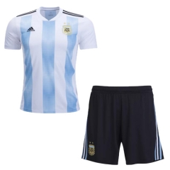 2018 World Cup Argentina Home Jersey Kits (Jersey+Short)