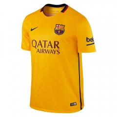 Barcelona fc away orange Soccer Jersey Shirt 2015-16