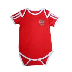 Baby Russia Red Soccer Infant Crawl Suit 2018