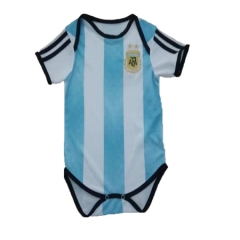 Baby Argentina White Soccer Infant Crawl Suit 2018