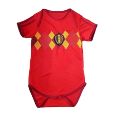 Baby Belgium Red Soccer Infant Crawl Suit 2018