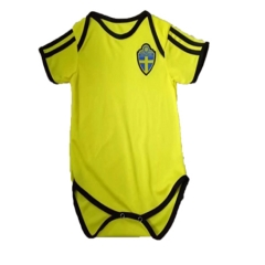 Baby Sverige Yellow Soccer Infant Crawl Suit 2018