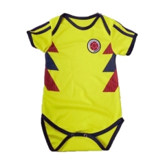 Baby Colombia Yellow Soccer Infant Crawl Suit 2018