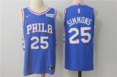 Ben Simmons #25 Nike Philadelphia 76ers Icon Edition Swingman Jersey - Blue/White/Red