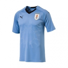 2018 Uruguay Home Blue Soccer Jersey Shirts