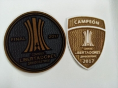 Final Conmebol Copa Libertadores Gold Patch + Champion patch ,2 pcs / lots, For Gremio