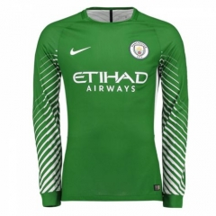 Manchester City Green Goalkeeper Long Sleeve Soccer Jersey 2017/18