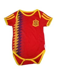 Baby Spain Red Soccer Infant Crawl Suit 2018