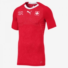 2018 World Cup Switzerland Home Red Soccer Jersey Shirt