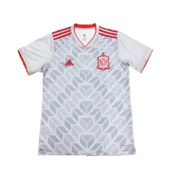 2018 Spain Grey White Training Short Shirt Jersey