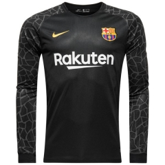 Barcelona Black Goalkeeper Long Sleeve Jersey 2018
