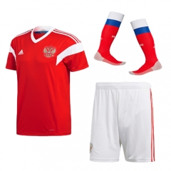 Youth Russia Home Soccer Jersey Full Kits 2018 ,Jersey+Shorts+Sock