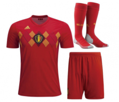 Youth Belgium Home Soccer Jersey Full Kits 2018 ,Jersey+Shorts+Sock
