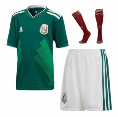 Adult Mexico Home Soccer Jersey Full Kits 2018 ,Jersey+Shorts+Sock