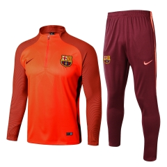 Youth Barcelona 1/4 Zip Squad Orange Training Suit 2017-18