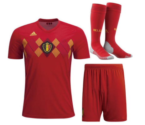 Adult Belgium Home Soccer Jersey Full Kits 2018 ,Jersey+Shorts+Sock