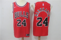Lauri Markkanen #24 Nike Chicago Bulls Icon Edition Jersey - Red/White