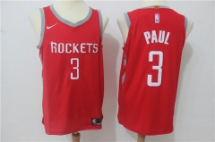 Chris Paul #3 Nike Houston Rockets Icon Edition Jersey - Red/White/Black