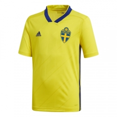 2018 World Cup Sverige/Sweden Home Yellow Soccer Jersey Shirts