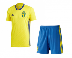 2018 Youth World Cup Sverige/Sweden Home Yellow Soccer Uniform