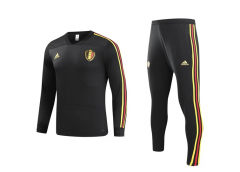 Youth Belgium Black World Cup 2018 V Neck Training Suit