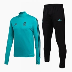 Youth Real Madrid Blue Green Training Suit 2018