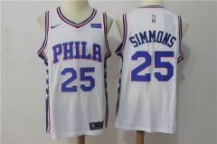 Ben Simmons #25 Nike Philadelphia 76ers Swingman Icon Jersey - White/Blue/Red
