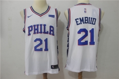 Joel Embiid #21 Nike Philadelphia 76ers Swingman Icon Jersey - White/Blue/Red