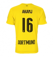 Adult #16 Manuel Akanji Borussia Dortmund Home Yellow Jersey Fan Version 2017/18