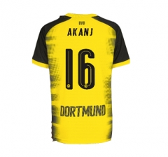 Adult #16 Manuel Akanji Borussia Dortmund UCL Yellow Jersey Fan Version 2017/18
