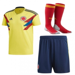 Adult Colombia Home Soccer Jersey Full Kits 2018 ,Jersey+Shorts+Sock