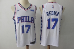 J.J. Redick #17 Nike Philadelphia 76ers Authentic Icon Edition Jersey - White/Blue/Red