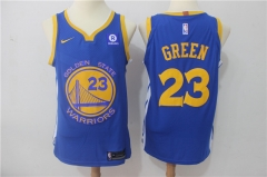 Draymond Green #23 Nike Golden State Warriors Authentic Icon Edition Jersey- Royal/White