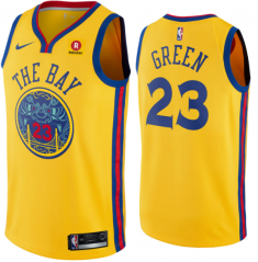 Draymond Green #23 Nike Golden State Warriors Chinese Heritage Swingman City Edition Jersey - Gold