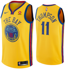 Klay Thompson #11 Nike Golden State Warriors Chinese Heritage Swingman City Edition Jersey - Gold
