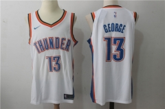 Paul George #13 Nike Oklahoma City Thunder Authentic Icon Edition Jersey - White/Blue