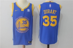 Kevin Durant #35 Nike Golden State Warriors Authentic Icon Edition Jersey- Royal/White/Black
