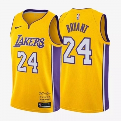 Kobe Bryant #24 Nike Los Angeles Lakers Retirement Swingman Jersey - Gold