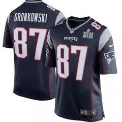 Rob Gronkowski New England Patriots Super Bowl LII Bound Game Jersey - Navy/White /Red
