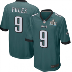 Nick Foles Philadelphia Eagles  Super Bowl LII Bound Game Jersey - Black/Green