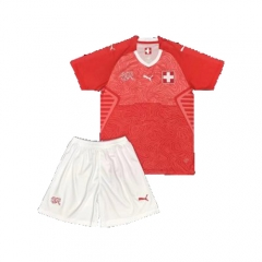 2018 Youth World Cup Switzerland Home Red Soccer Uniform
