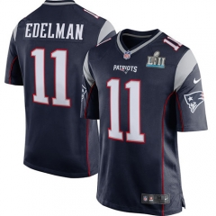 Youth Julian Edelman New England Patriots Super Bowl LII Bound Game Jersey - Navy/White